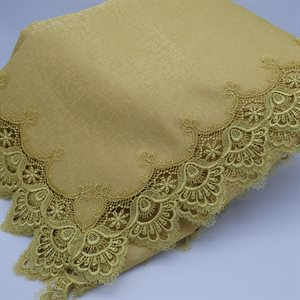 "TABLECLOTH 6X126"" GOLD"