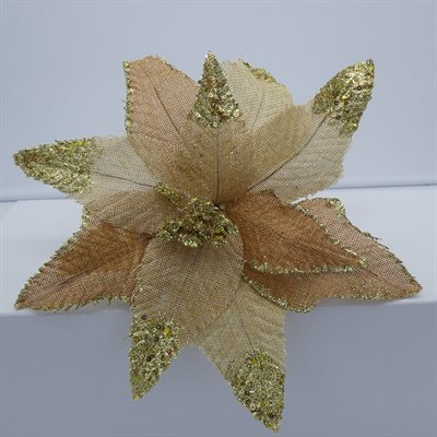 GOLD / JUTE POINSETTIA